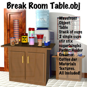 3d model break room table