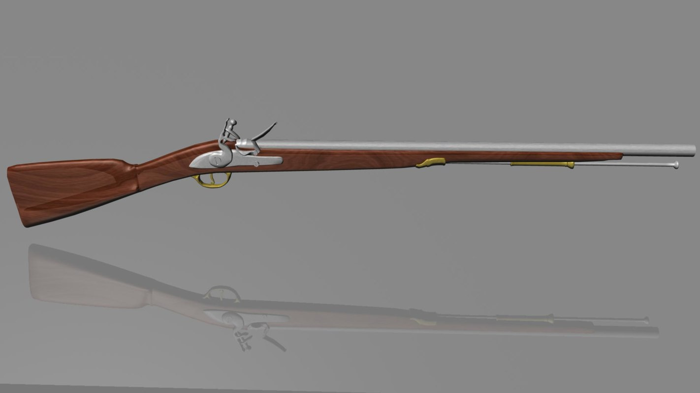 dxf brown bess musket
