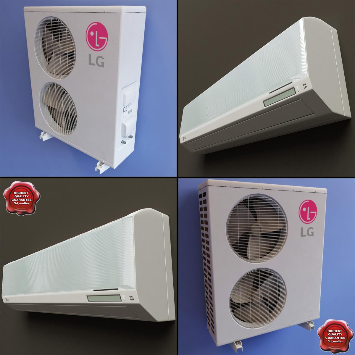 conditioner lg v2 3d model