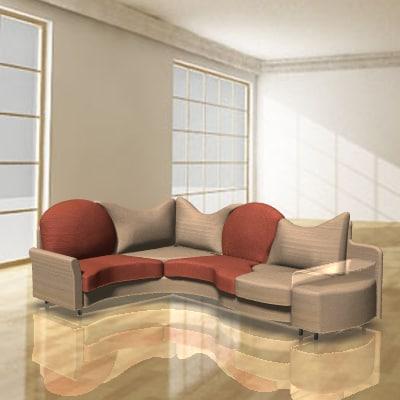 3d model divan sofa for Divan sofa bed