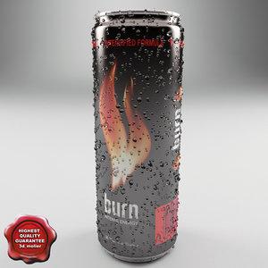 drink burn 0 25l 3d model