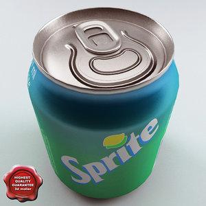 drink sprite 0 237l 3d model