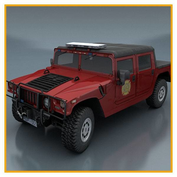 department vehicle 3d model
