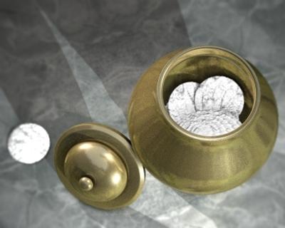 golden pot manna gold 3d model