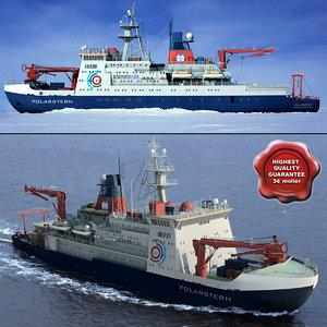german research ship polarstern 3d model