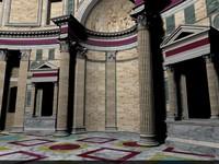 rome pantheon 3d model