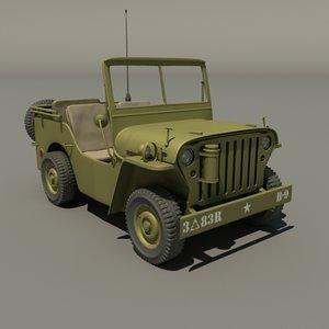 army jeep 4x4 3d model