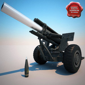 m114a1 155 mm howitzer 3d max