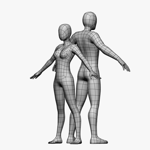 female male 3d model