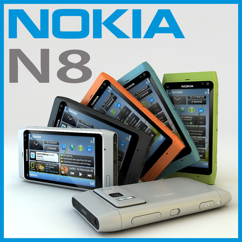 2010 nokia n8 3d model