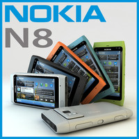 3D Model Nokia N8, N 8 Cell Mobile Phone