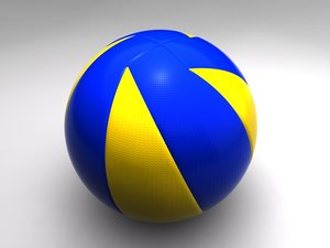 new ball volley 3d model
