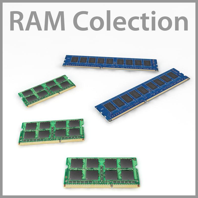 free computer rams 3d model