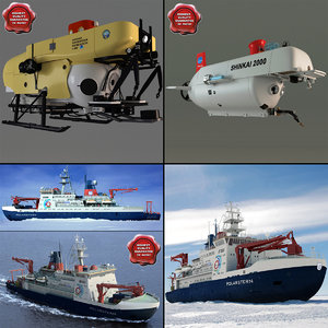 research ships 3d model