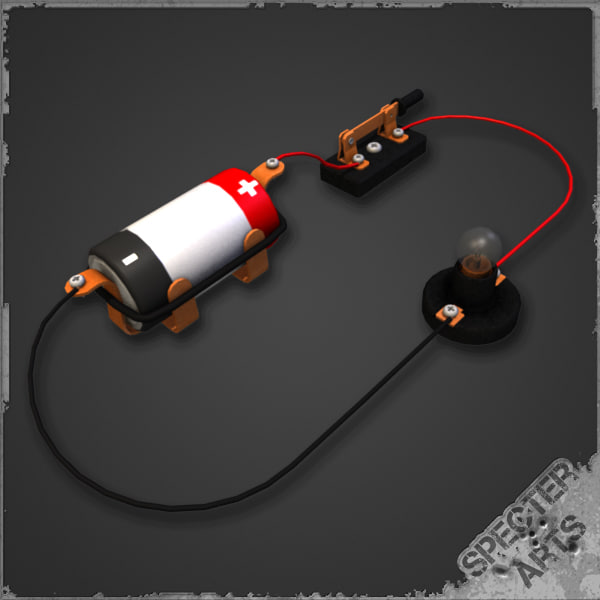 illustration simple circuit 3d model