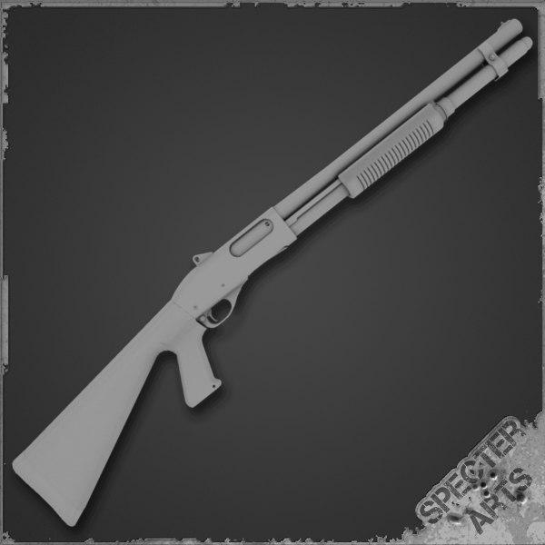 870 tactical shotgun 3d model