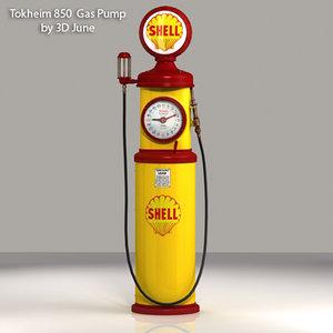 3d 3ds vintage tokheim shell gas