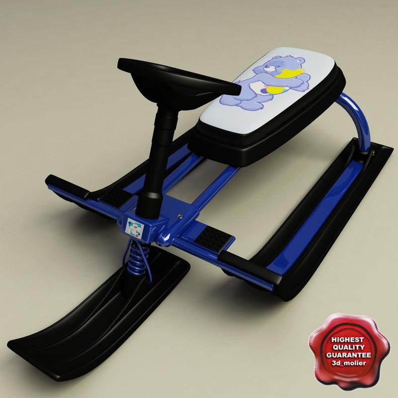 snow sled v1 3d model