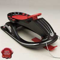 snow sled v3 3d model
