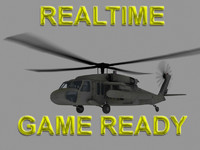 helicopter uh-60 blackhawk 3d model