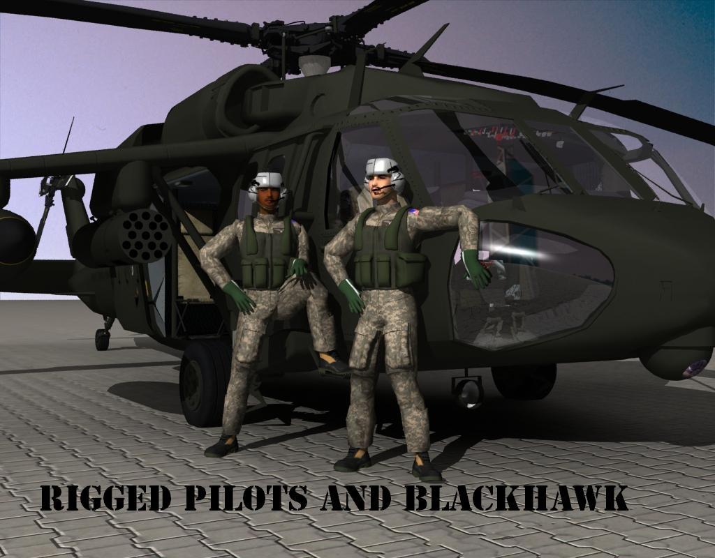 uh 60 blackhawk 3d model