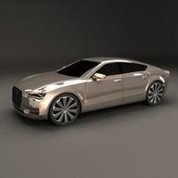 audi sportback concept car 3d model