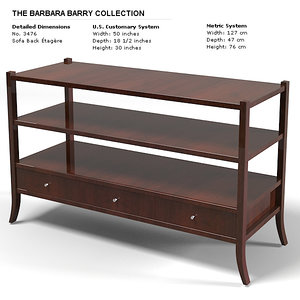 baker sofa etagere 3d model