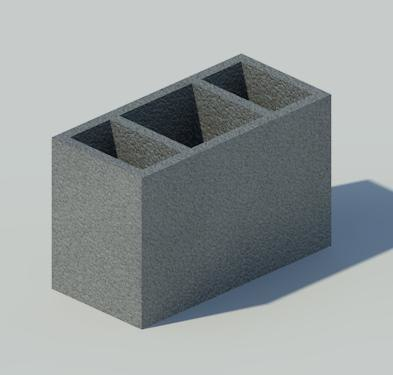 3d model vertical block