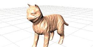 hairless cat 3d model