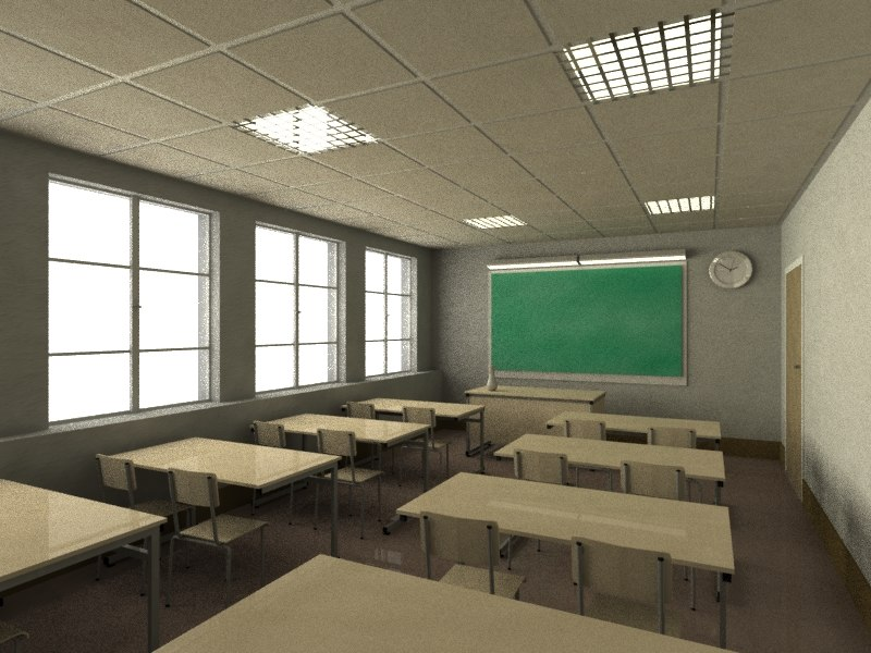 3ds max classroom interior