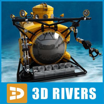bathyscaphe clelia 3d model