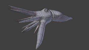 cuttlefish base mesh 3d model
