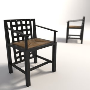 3d model of charles rennie mackintosh ds3