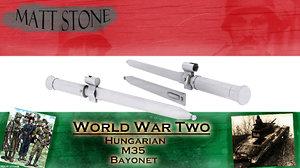 free wwii hungarian model-35 bayonet 3d model
