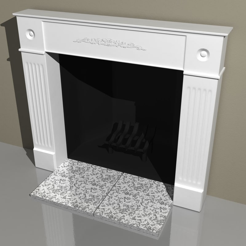 fireplace mantle 3d model