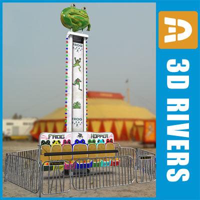 pendulum amusement ride 3d model