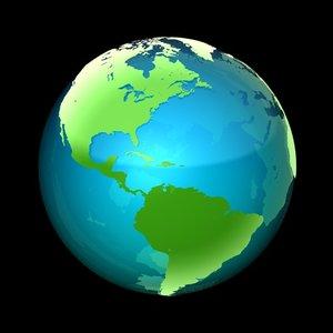 3d model globe options