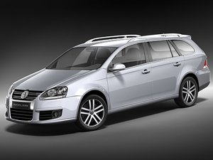 volkswagen golf variant v 3d model