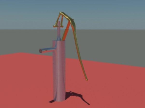 nulka handpump pump 3d model