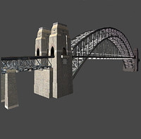 sydney harbour bridge obj