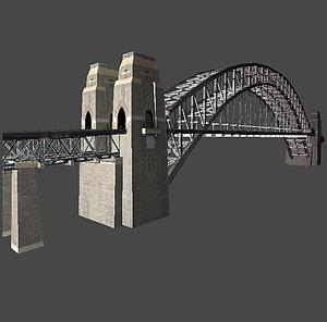 sydney harbour bridge obj