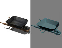 wheelbarrow barrow wheel 3d model
