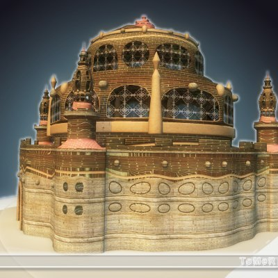 3ds max temple mysterious complex