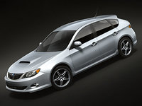 subaru impreza sport hatchback 3d model