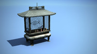chinese temple incense burner 3d model