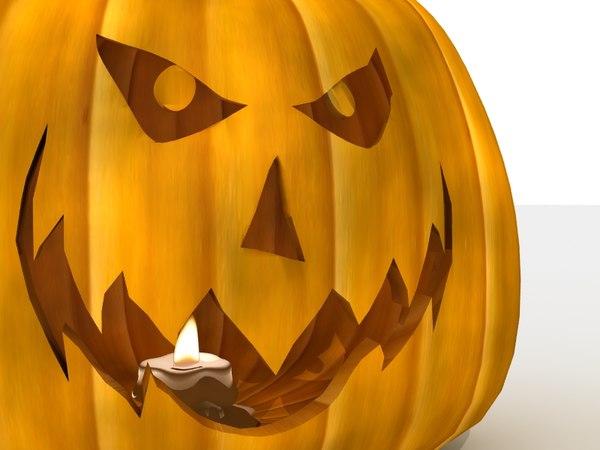 jack o lantern candle 3d model