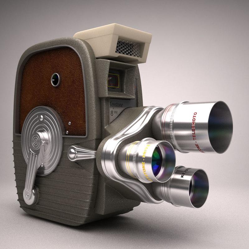 keystone 1958 k-26 8mm 3d model