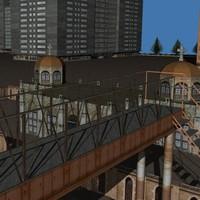 3dsmax cityscape scene