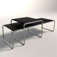 3d marcel breuer laccio tables model