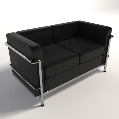 Le Corbusier Lc2 Two Seater 3d Model